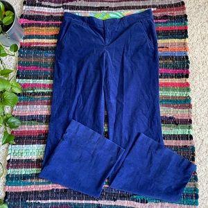 Lilly Pulitzer Vintage Blue Corduroy Pants 8